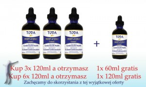 Krople TODA (6x120 ml + 120 ml GRATIS) - HEART of GOLD Formula by TODA™